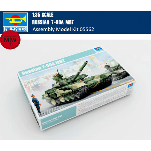 Trumpeter 05562 1/35 Scale Russian T-90A MBT Military Plastic Tank Assembly Model Kits