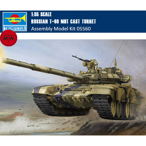 Trumpeter 05560 1/35 Scale Russian T-90 MBT Cast Turret Military Plastic Tank Assembly Model Kits
