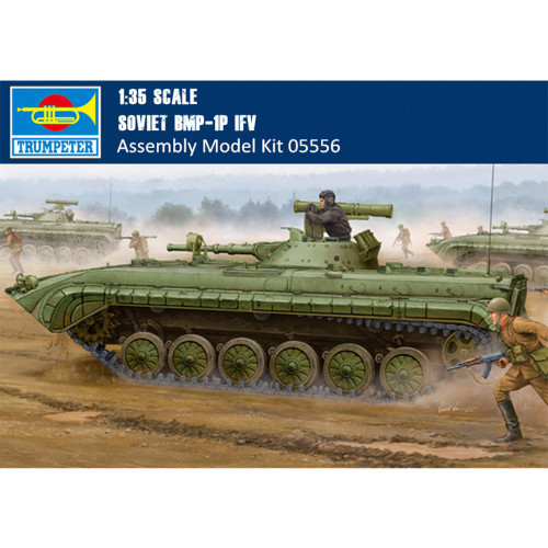 Trumpeter 05556 1/35 Scale Soviet BMP-1P IFV Military Plastic Assembly Model Building Kits
