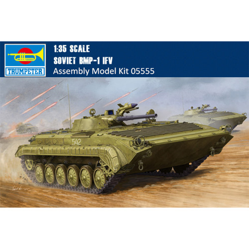 Trumpeter 05555 1/35 Scale Soviet BMP-1 IFV Military Plastic Assembly Model Building Kits
