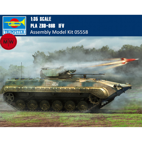 Trumpeter 05558 1/35 Scale PLA ZBD-86B IFV Military Plastic Assembly Model Kits