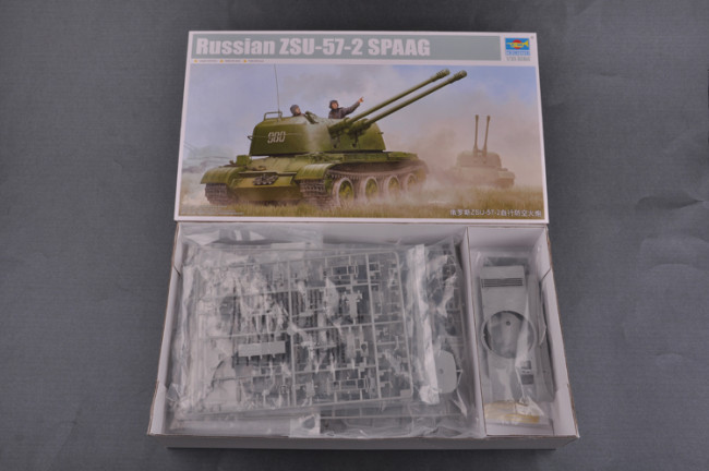 TRUMPETER 05559 1:35th échelle ZSU-57-2 russes Spaag