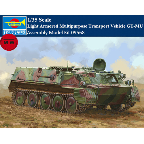 Trumpeter 09568 1/35 Scale Light Armored Multipurpose Transport Vehicle GT-MU Military Plastic Assembly Model Kits