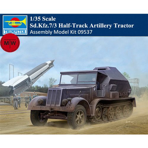 Trumpeter 09537 1/35 Scale German Sd.Kfz.7/3 Half-Track Artillery Tractor Military Plastic Assembly Model Kits