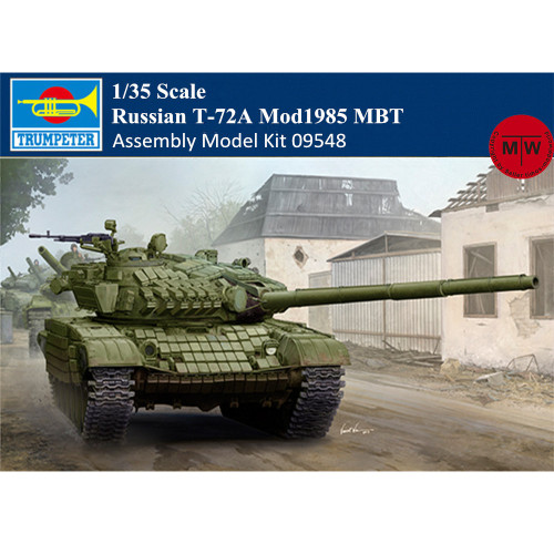 Trumpeter 09548 1/35 Scale Russian T-72A Mod1985 MBT Military Plastic Tank Assembly Model Kits