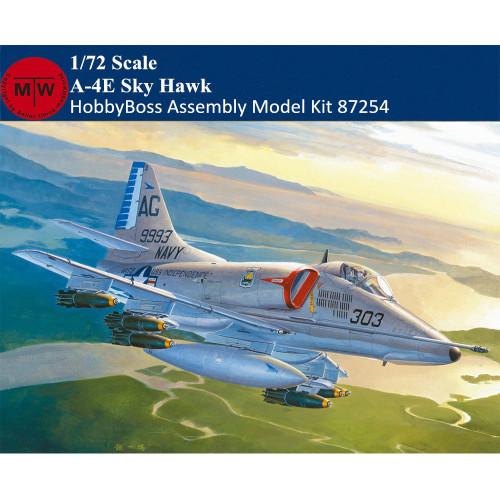 HobbyBoss 87254 1/72 Scale A-4E Sky Hawk Military Plastic Aircraft Assembly Model Kits