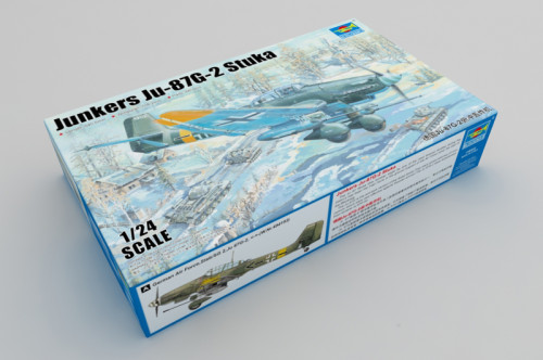 Trumpeter 02425 1/24 Scale Junkers Ju-87G-2 Stuka Dive Bomber Military Plastic Aircraft Assembly Model Kits