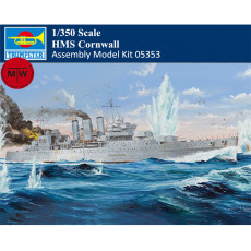 Trumpeter 05353 1/350 Scale HMS Cornwall Heavy Cruiser Military Plastic Assembly Model Kits
