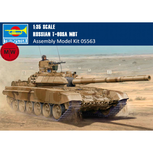 Trumpeter 05563 1/35 Scale Russian T-90SA MBT Military Plastic Tank Assembly Model Kits