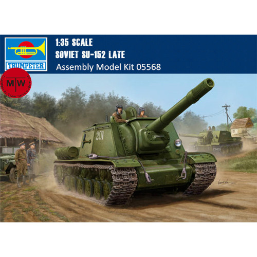 Trumpeter 05568 1/35 Scale Soviet SU-152 Late Military Plastic Assembly Model Kits