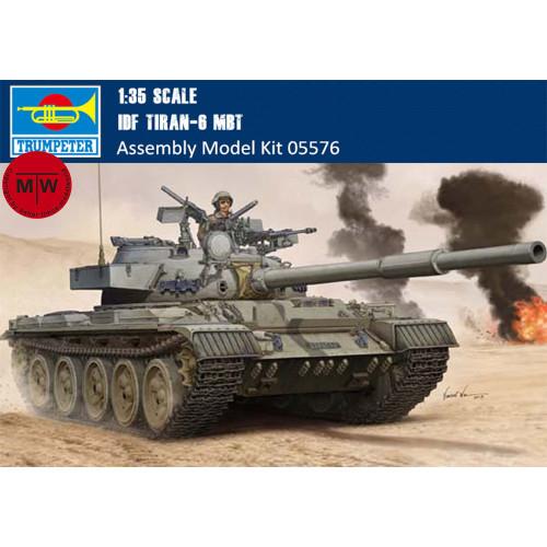 Trumpeter 05576 1/35 Scale IDF Tiran-6 MBT Main Battle Tank Military Plastic Assembly Model Kits