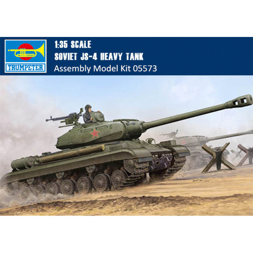 Trumpeter 05573 1/35 Scale Soviet JS-4 Heavy Tank Military Plastic Assembly Model Building Kits