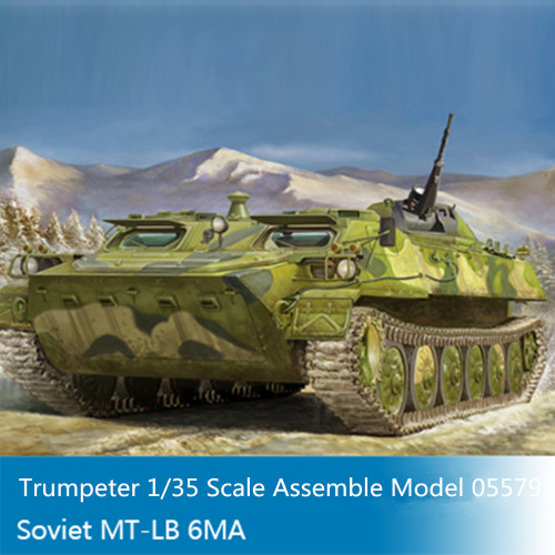Trumpeter 05579 1/35 Scale Soviet MT-LB 6MA Military Plastic Assembly Model Kits