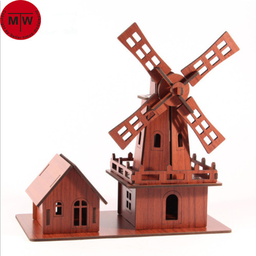 Wooden 3D Jigsaw Puzzle Holland Windmills Assembly Model Kits DIY Christmas Brithday Gift TMW00034