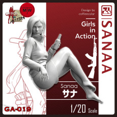 ZLPLA Genuine 1/20 Scale Resin Figure Sanaa Girls in Action Assembly Model Unpainted Kits GA-019