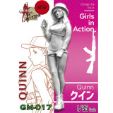 ZLPLA Genuine 1/35 Scale Quinn Girls in Action Resin Figure Assembly Model Unpainted Kits GM-017
