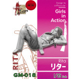 ZLPLA Genuine 1/35 Scale Rita Girls in Action Resin Figure Assembly Model Unpainted Kits GM-018