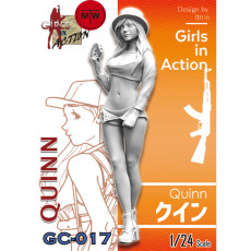 ZLPLA Genuine 1/24 Scale Quinn Girls in Action Resin Figure Assembly Model Unpainted Kits GC-017