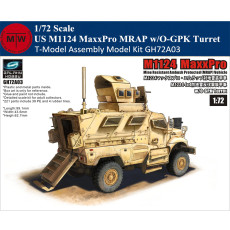 T-Model GH72A03 1/72 Scale US M1124 MaxxPro MRAP w/O-GPK Turret Military Plastic Assembly Model Kits