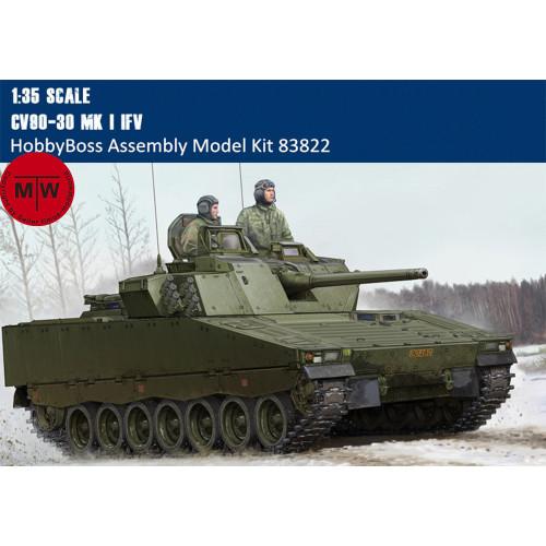 HobbyBoss 83822 1/35 Scale CV90-30 MK I IFV Military Plastic Assembly Model Kits