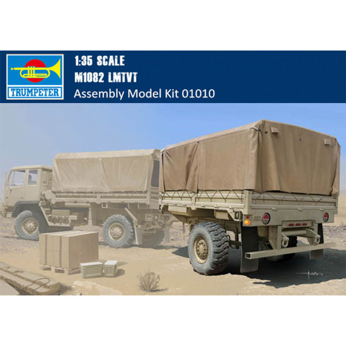 Trumpeter 01010 1/35 Scale M1082 LMTVT Plastic Military Assembly Model Building Kits