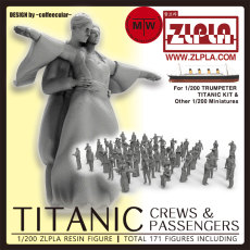 1/200 Scale Titanic Crews and Passengers 171 Resin Figures Assembly Model Kits for Trumpeter 03713 Ship Model or Other 1/200 Miniatures