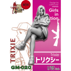 Pre-order ZLPLA Genuine 1/35 Scale Resin Figure Trixie Girls in Action Assembly Model Kits GM-020
