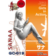 Pre-order ZLPLA Genuine 1/24 Scale Resin Figure Sanaa Girls in Action Assembly Model Unpainted Kits GC-019