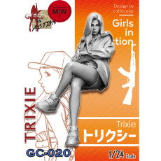 Pre-order ZLPLA Genuine 1/24 Scale Resin Figure Trixie Girls in Action Assembly Model Unpainted Kits GC-020