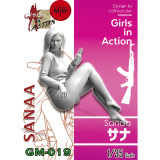 Pre-order ZLPLA Genuine 1/35 Scale Resin Figure Sanaa Girls in Action Assembly Model Kits GM-019