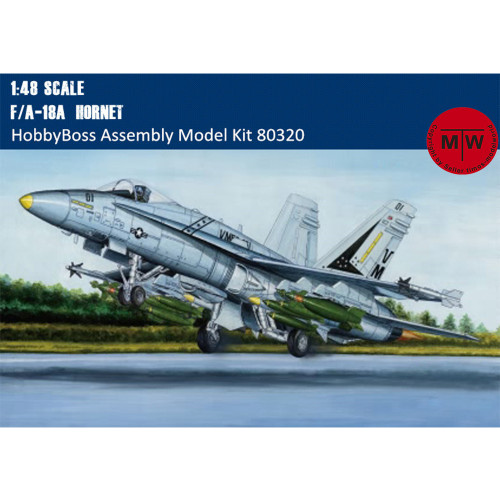 HobbyBoss 80320 1/48 Scale F/A-18A Hornet Fighter/Attack Aircraft Plastic Assembly Model Kits