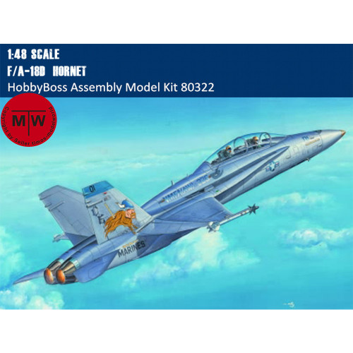 HobbyBoss 80322 1/48 Scale F/A-18D Hornet Fighter/Attack Aircraft Military Plastic Assembly Model Kits