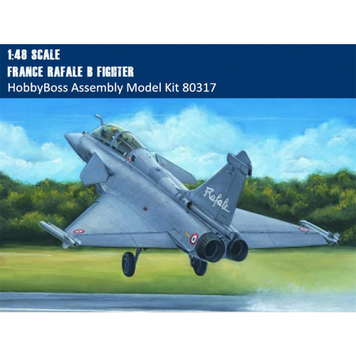 HobbyBoss 80317 1/48 Scale France Rafale B Fighter Military Plastic Assembly Aircraft Model Kits