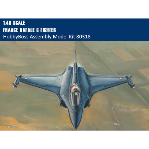 HobbyBoss 80318 1/48 Scale France Rafale C Fighter Military Plastic Aircraft Assembly Model Kits