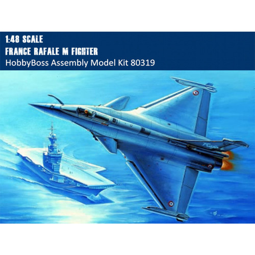 HobbyBoss 80319 1/48 Scale France Rafale M Fighter Military Plastic Aircraft Assembly Model Kits