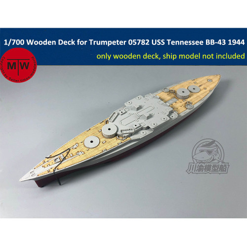 1/700 Scale Wooden Deck for Trumpeter 05782 USS Tennessee BB-43 1944 Model Kit TMW00039