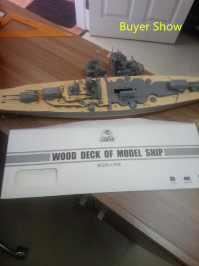 Super Upgrade Set for 1/350 Scale Bismarck Tamiya 78013 Revell 05040 Mini Hobby 80601 Ship Model CYE013 (Wooden Deck Brass Barrel PE Chain)