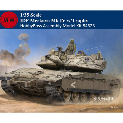 HobbyBoss 84523 1/35 Scale IDF Merkava Mk IV w/Trophy Plastic Tank Assembly Model Kits