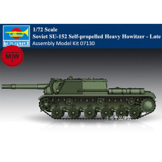 Trumpeter 07130 1/72 Scale Soviet SU-152 Self-propelled Heavy Howitzer Late Plastic Assembly Model Kits