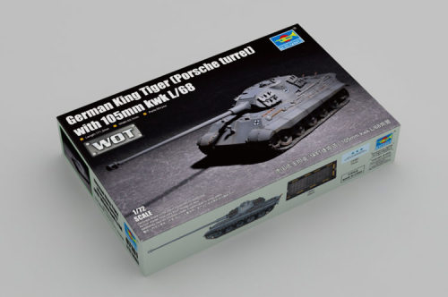 Trumpeter 07161 1/72 Scale German King Tiger (Porsche turret) with 105mm kwk L/68 Plastic Assembly Tank Model Kit