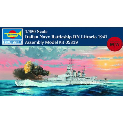 Trumpeter 05319 1/350 Scale Italian Navy Battleship RN Littorio 1941 Plastic Assembly Model Kits