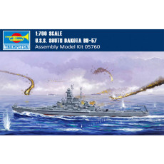 Trumpeter 05760 1/700 Scale USS South Dakota BB-57 Battleship Military Plastic Assembly Model Kits