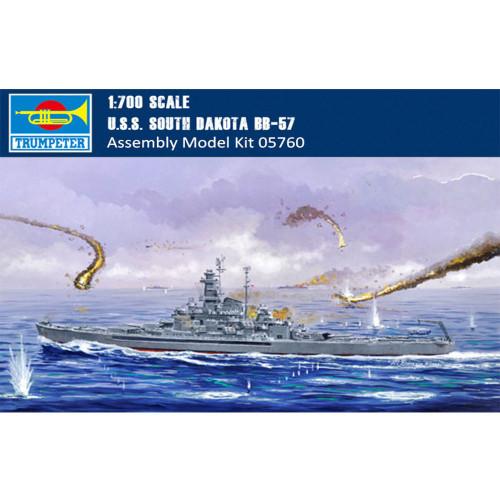 Trumpeter 05760 1/700 Scale USS South Dakota BB-57 Battleship Military Plastic Assembly Model Kits