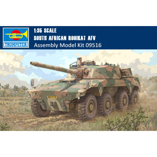 Trumpeter 09516 1/35 Scale South African Rooikat AFV Military Plastic Assembly Model Building Kits
