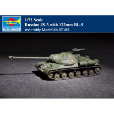 Trumpeter 07163 1/72 Scale Russian JS-3 with 122mm BL-9 Plastic Tank Assembly Model Kits