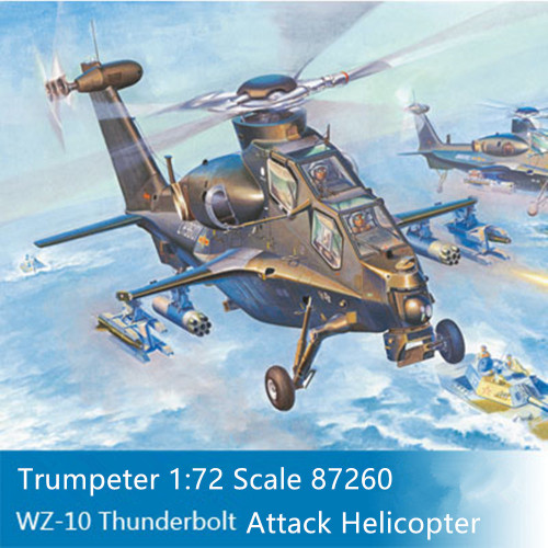 HobbyBoss 87260 1/72 Scale Chinese PLA WZ-10 Thunderbolt Attack Helicopter Aircraft Assembly Model Kits