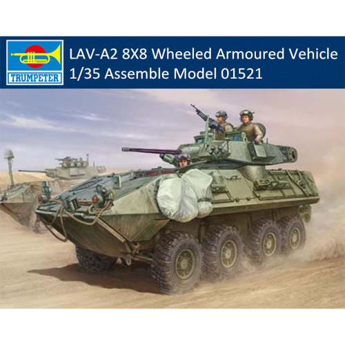 Trumpeter 01521 1/35 Scale LAV-A2 8X8 Wheeled Armoured Vehicle Plastic Assembly Model Kits