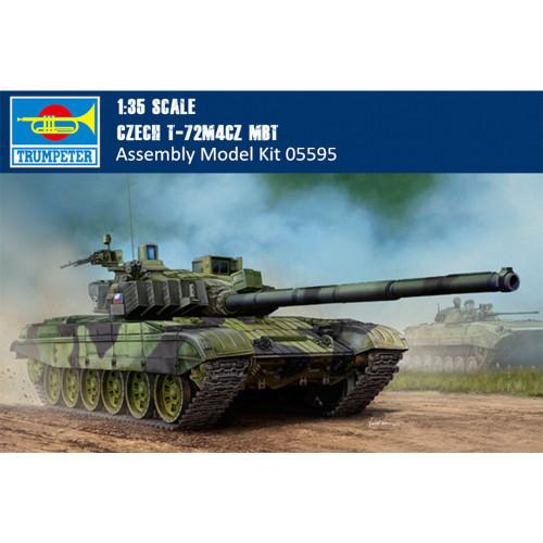 Trumpeter 05595 1/35 Scale Czech T-72M4CZ Main Battle Tank Military Plastic Assembly Model Kits