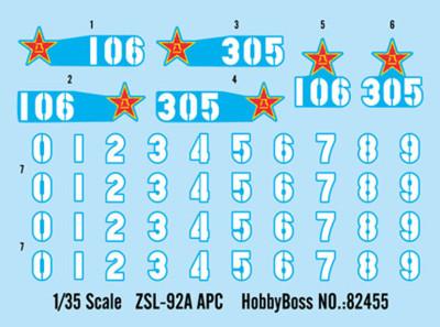 HobbyBoss 82455 1/35 Scale PLA ZSL-92A APC Military Plastic Assembly Model Kits