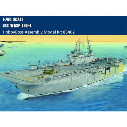 HobbyBoss 83402 1/700 Scale USS Wasp LHD-1 Amphibious Assault Ship Military Assembly Model Kits
